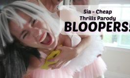 BLOOPERS! Sia Cheap Thrills Parody – No Social Skills