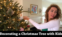 Decorating a Christmas Tree with Kids