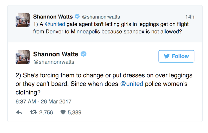 United Airlines Bans Girls from Traveling Because They're Wearing Leggings