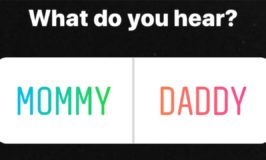What Do You Hear? Mommy vs. Daddy